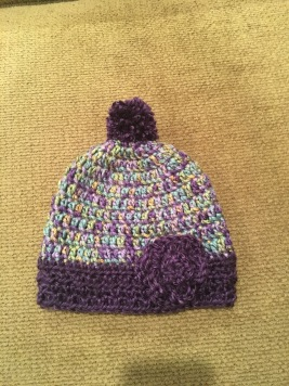 Baby girl's hat with Pom-pom